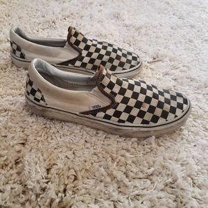 VANS Checkered Slip-ons